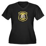 San Joaquin Sheriff Women's Plus Size V-Neck Dark