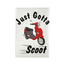 Just Gotta Scoot Red Buddy Rectangle Magnet
