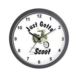 Just Gotta Scoot Italia Buddy Wall Clock