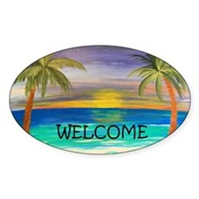 welcome tropical sunset Decal