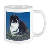 French Lop Bunny rabbit Small Mug, right side art