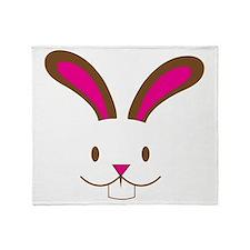 Wabbit rabbit cute face Throw Blanket