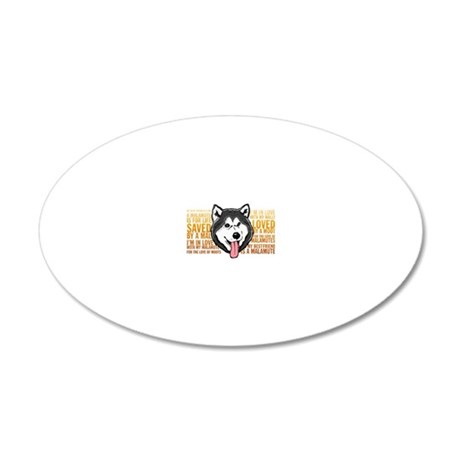 Love a Malamute 20x12 Oval Wall Decal