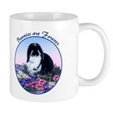French Lop rabbit & Flowers Small Mug, right side art
