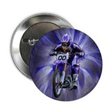 "Dirt biker blasting thru blue 2.25"" Button (100 pa"
