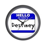 hello my name is destiney  Wall Clock