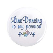 "Line Dancing Passion 3.5"" Button (100 pack)"