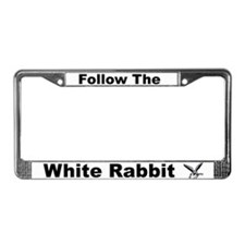 """Follow The White Rabbit"" License Plate Frame"