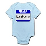 hello my name is deshaun  Onesie