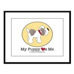 My Puppy Loves Me Large Framed Print