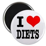 "I Heart (Love) Diets 2.25"" Magnet (100 pack)"