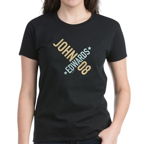 John Edwards 08 Womens Black Tee
