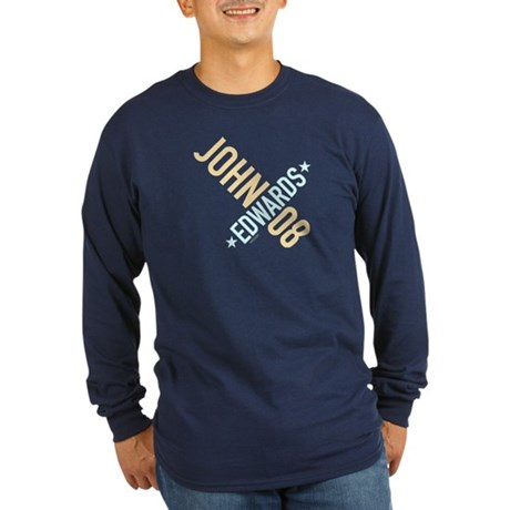 John Edwards 08 Long Sleeve Navy Tee