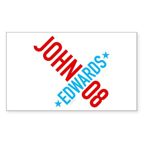 John Edwards 08 Rectangle Sticker