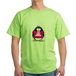 Hot Momma Penguin Green T-Shirt