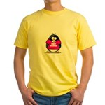 Hot Momma Penguin Yellow T-Shirt