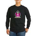 Hot Momma Penguin Long Sleeve Dark T-Shirt