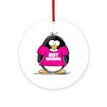 Hot Momma Penguin Ornament (Round)