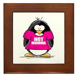 Hot Momma Penguin Framed Tile