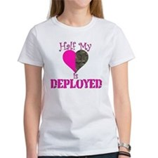 Half my heart is deployed Tee