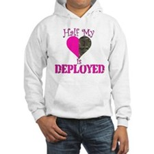 Half my heart is deployed Hoodie