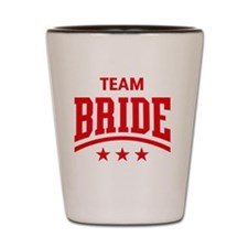 Team Bride (Stars, Red) Shot Glass