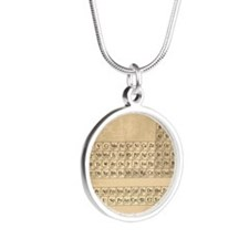 Periodic Table Silver Round Necklace