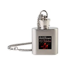 AWESOME 21ST Flask Necklace
