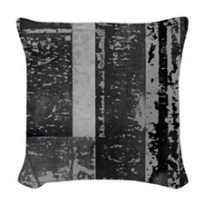 Black White Gray Rustic Old Wooden Texture Woven T
