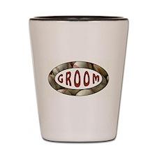 BASEBALL GROOM Shot Glass