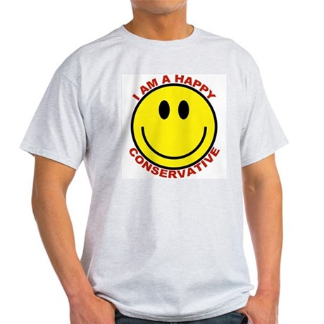 Happy Conservative Ash Grey T-Shirt