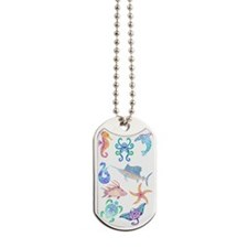 Tribal Ocean Fun Dog Tags