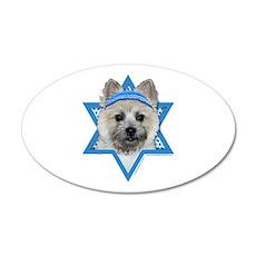 Hanukkah Star of David - Cairn 20x12 Oval Wall Dec