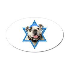 Hanukkah Star of David - Bulldog 20x12 Oval Wall D