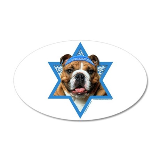 Hanukkah Star of David - Bulldog 35x21 Oval Wall D