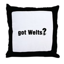 Got Paintball Welts Throw Pillow
