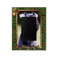 Kerry Blue Terrier Dog Christmas Picture Frame