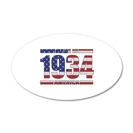 1934 Made In America 35x21 Oval Wall Decal