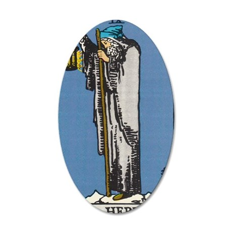 THE HERMIT TAROT CARD 35x21 Oval Wall Decal