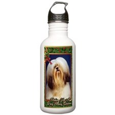 Lhasa Apso Dog Christm Water Bottle