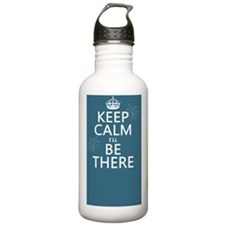 Keep Calm I'll Be Ther Water Bottle