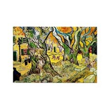 Van Gogh - The Road Menders Rectangle Magnet