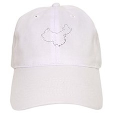 Funny China map Baseball Cap