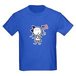 Girl & Democrat Kids Dark T-Shirt