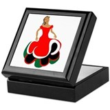 Female Mexican Dancer Keepsake Box