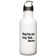 Youre on my list Water Bottle