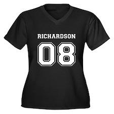 Richardson 08 Women's Plus Size V-Neck Dark T-Shir