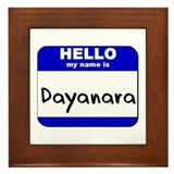 hello my name is dayanara  Framed Tile