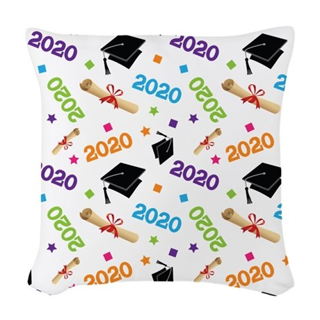 2020 Graduation Class Woven Throw Pillow