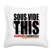 Sous Vide This Square Canvas Pillow